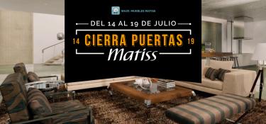 Cierra puertas Matiss del 14 al 19 de julio